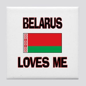 Belarus Loves Me Tile Coaster